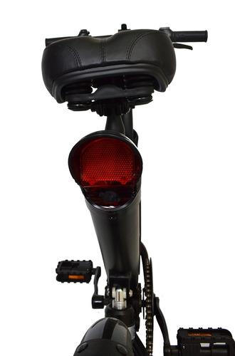 bicicleta elétrica scooter e-bike 350w aro 12 preto