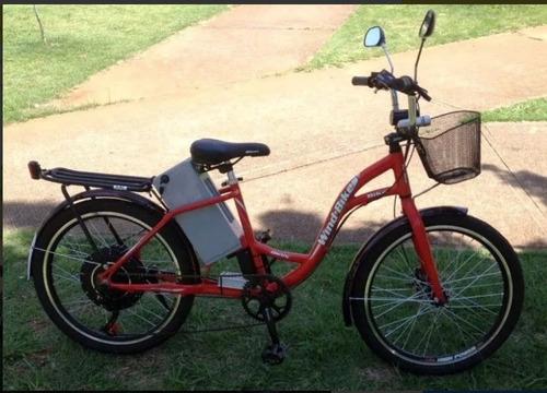 bicicleta elétrica wind bikes modelo ipanema 600 w 36 v 12ah