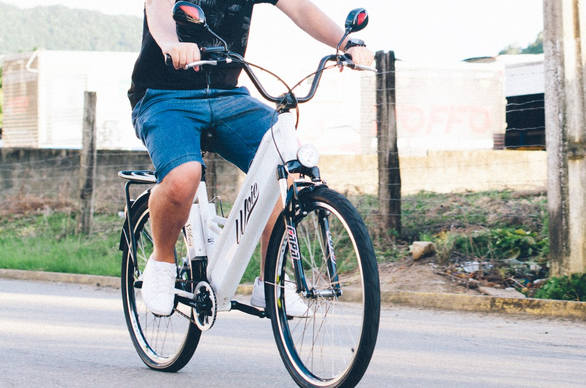 51595e8b4 Bicicleta Elétrica Woie Silver Fabricada No Brasil - Amarelo - R ...