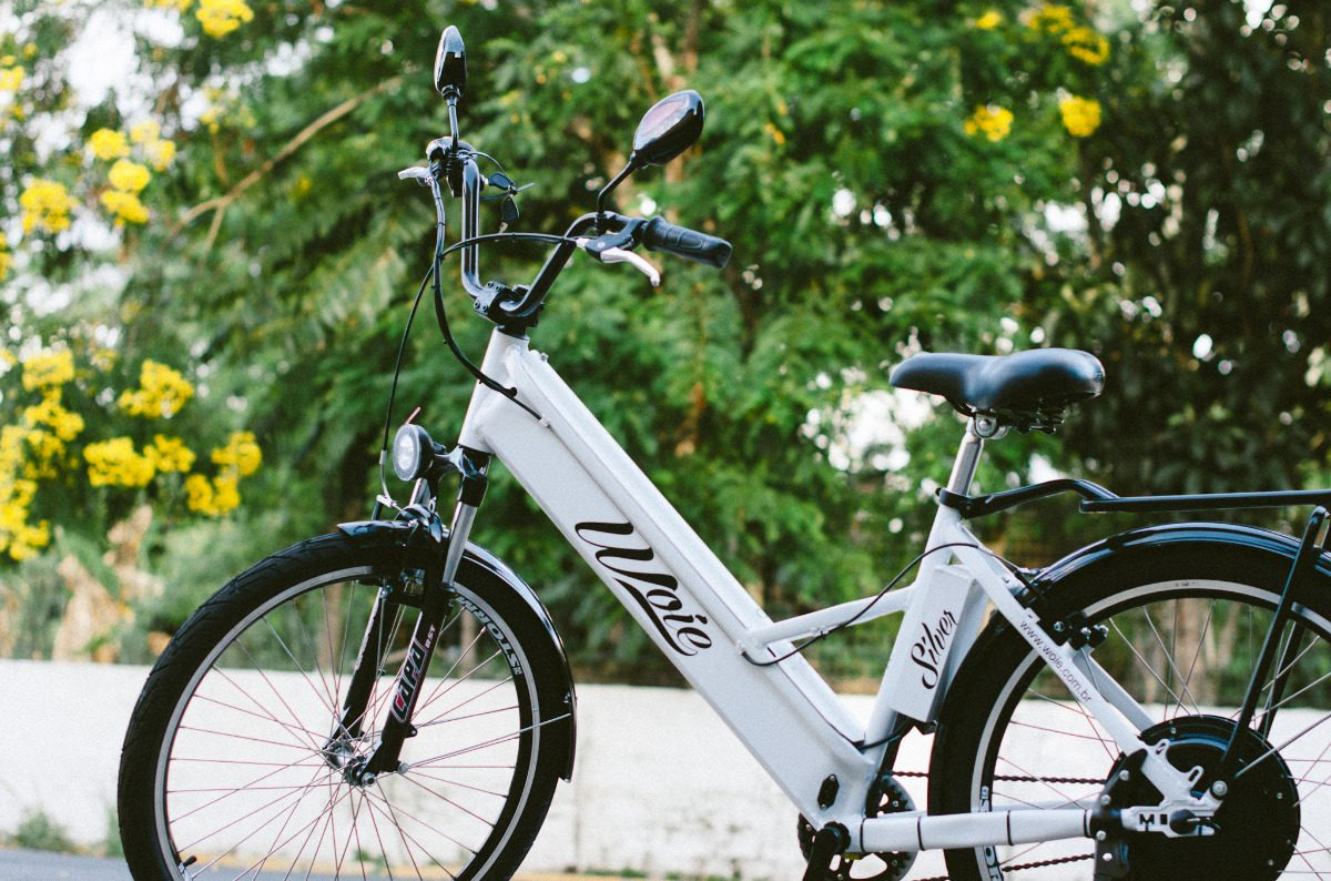 c3c0b3b2a Bicicleta Elétrica Woie Silver Fab. No Brasil - Preto Fosco - R ...