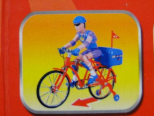 bicicleta eletro eletronica boneco articulado escala 1/12