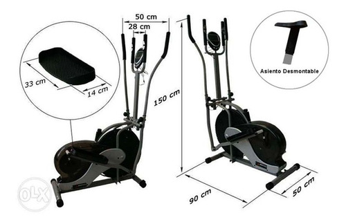 bicicleta eliptica orbitrek 2 en 1 sensor velocidad garantia