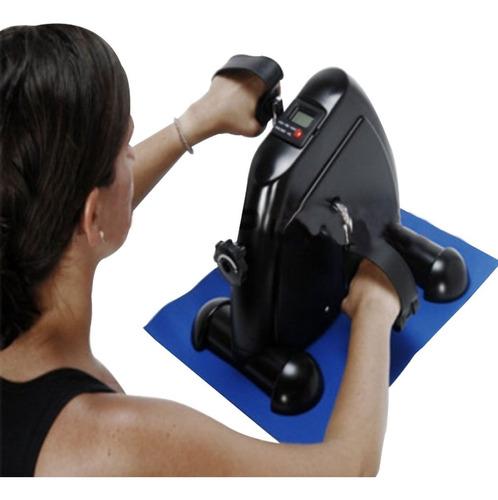 bicicleta ergométrica mini de pé e braço com monitor liveup