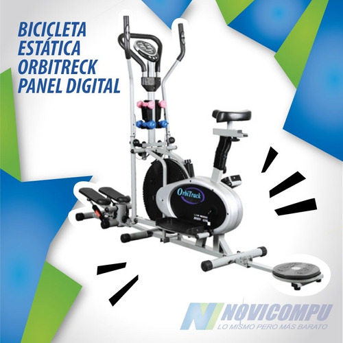 bicicleta estatica orbitreck 5 en 1 eliptica/panel digital