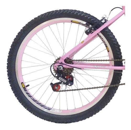 bicicleta feminina aro 26 18 marchas com cesta