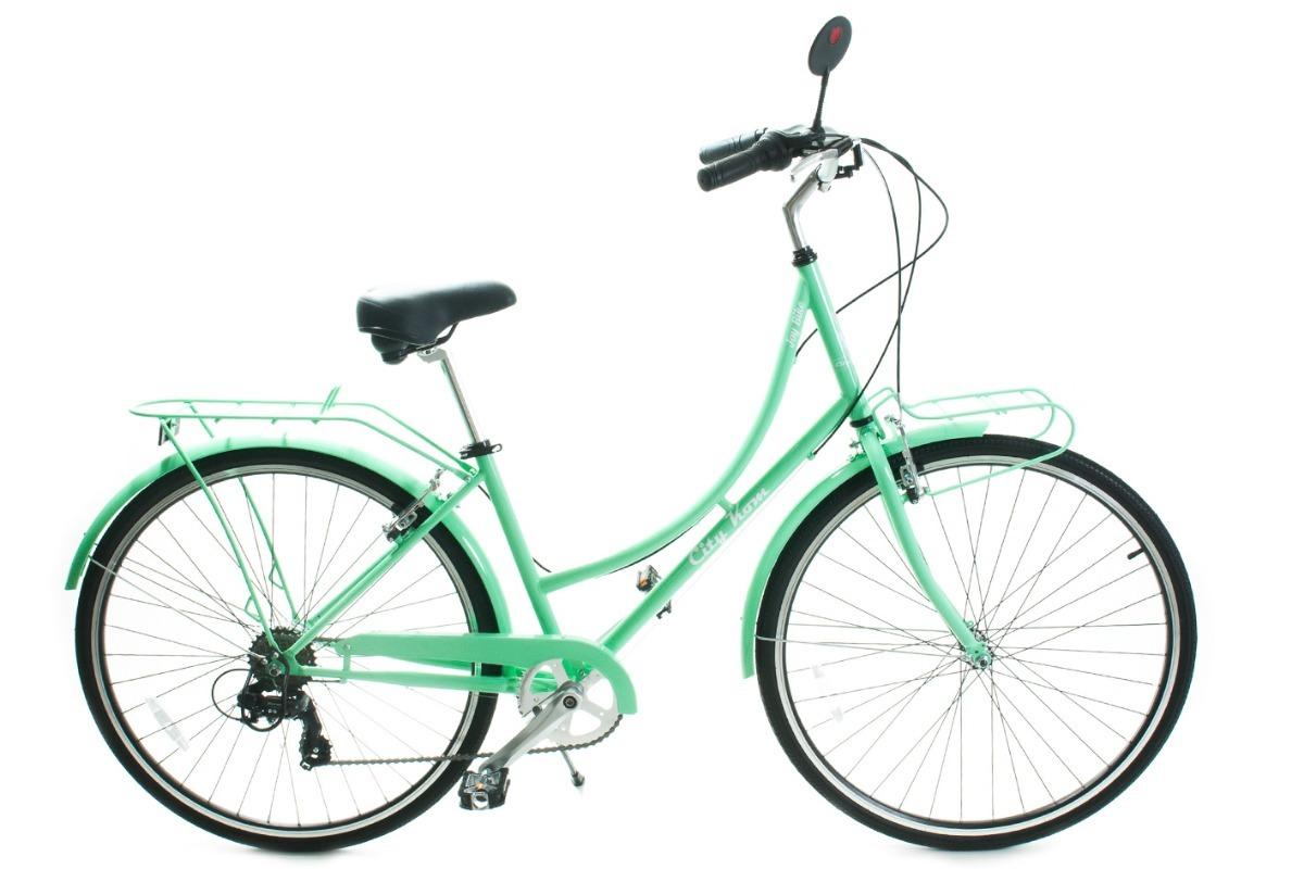 3981d1390 Bicicleta Feminina Aro 700 City Kom Em Aço - Com Bagageiro - R$ 1.600,00 em  Mercado Livre