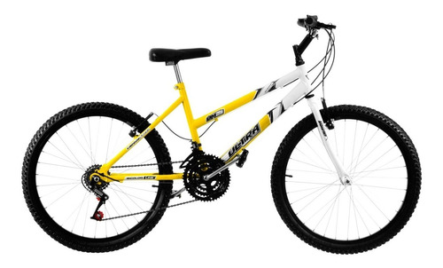 bicicleta feminina bicolor aro 24 18 marchas pro tork ultra