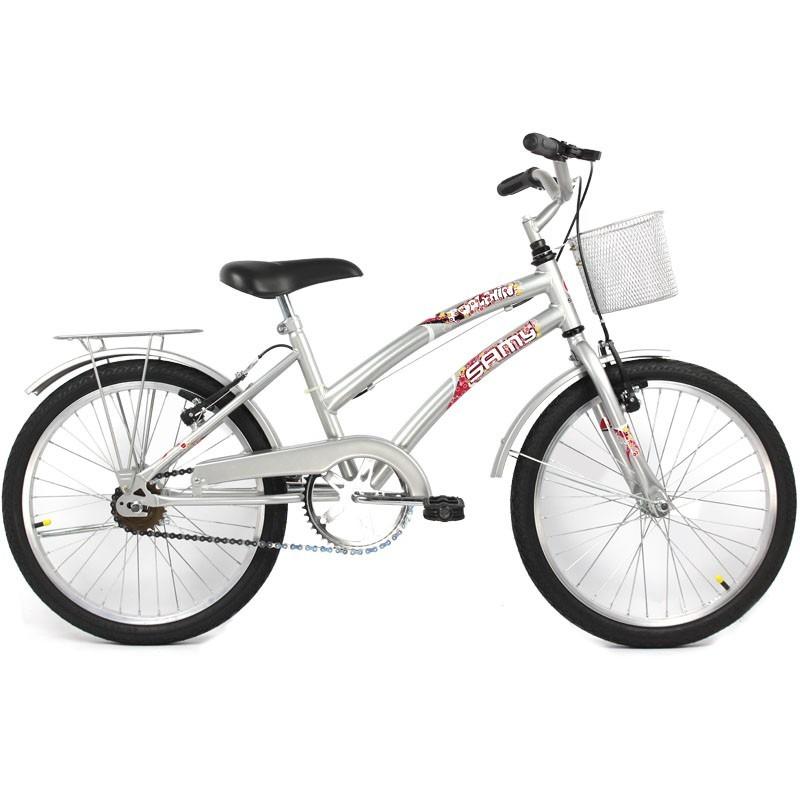 Bicicleta feminina dolphin aro 20 cesta e garupa cor - Cestas para bicicletas ...
