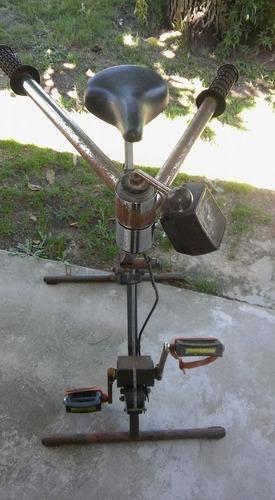 bicicleta fija con remo - la plata