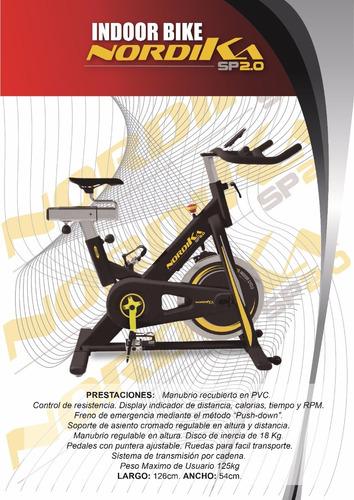 bicicleta fija indoor bike spin sp 2.0 spinning envio gratis
