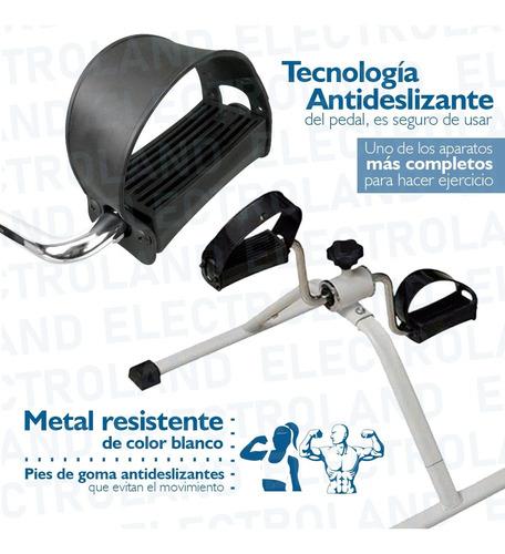bicicleta fija pedalera rehabilita piernas y brazos plegable