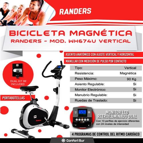 bicicleta fija randers wh674u monitor digital h/90kg env**10