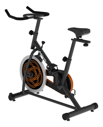 bicicleta fija spinning athletic 400bs disco 13kg