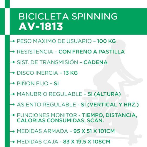 bicicleta fija spinning indoor monitor piñon fijo rueda 13kg