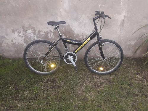bicicleta fischer rodado 24 con 18 velocidades