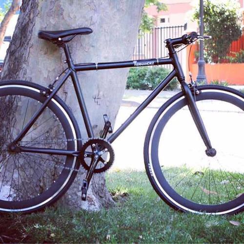 bicicleta fixie marco y componente aluminio doble freno