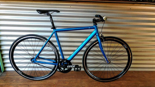 bicicleta fixie/pista . cuadro aluminio horquilla de carbono
