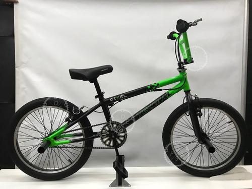 bicicleta freestyle r20 bmx teknial pixel 48 rayos con rotor