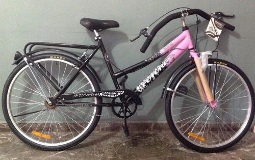 bicicleta full dama rodado 26 con canasto