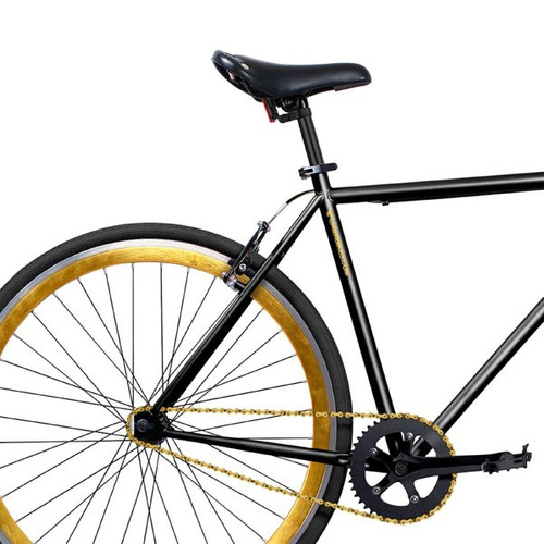bicicleta gama 28   alley cat black gold / baik club