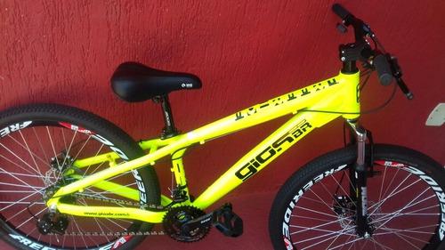 bicicleta gios frx amarelo neon aros freeride frete grátis