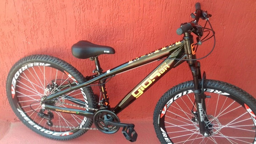 bicicleta gios frx preto laranja aros freeride frete grátis