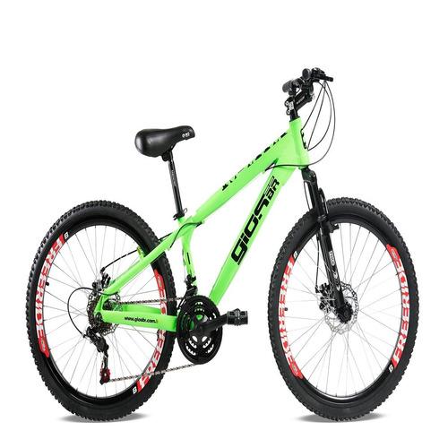 bicicleta gios frx/frs/4trix aro 26 freio a disco verde neon