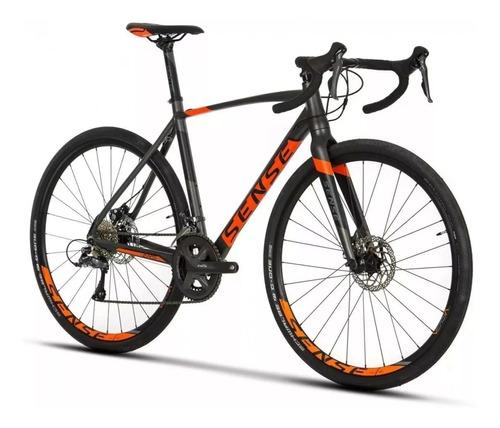 bicicleta gravel sense t/m 53 versa  +brinde + frete gratis