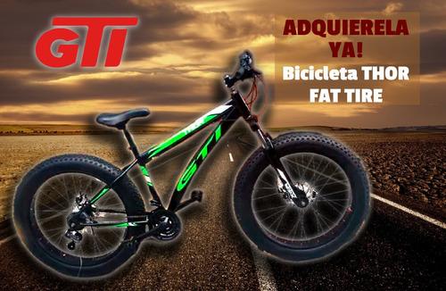 bicicleta gti thor fat tire aro 26 incluido iva