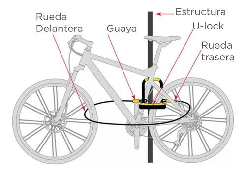 bicicleta guaya candado