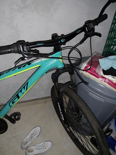 bicicleta gw lynx verde agua totalmente funciona 2 mesepreci