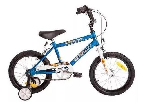 bicicleta halley 19050 cross rodado 16 con rueditas varón