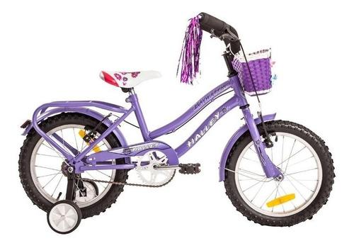 bicicleta halley 19058 playera rodado 16 canasto