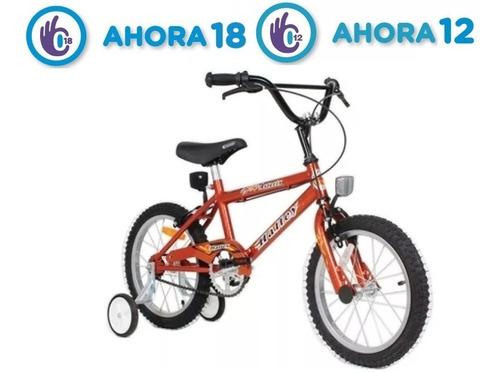bicicleta halley r16 cross varon roja o azul + rueditas fas