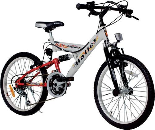 bicicleta halley rodado 20 mtb y full su18v 16335