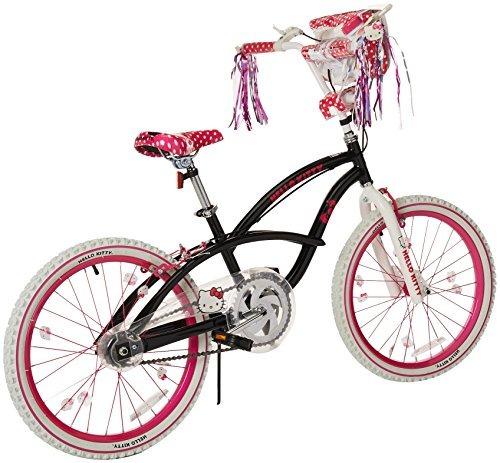 bicicleta hello kitty 810860tj para niñas blanca rosa y neg