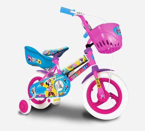 bicicleta infantil 12 rueditas  minnie unibike babymovil
