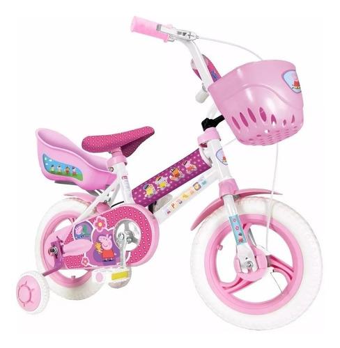 bicicleta infantil 12 rueditas peppa pig unibike full