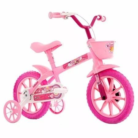 1d1242c14 Bicicleta Infantil Aro 12 Track Bikes Arco Íris Rosa - R  224