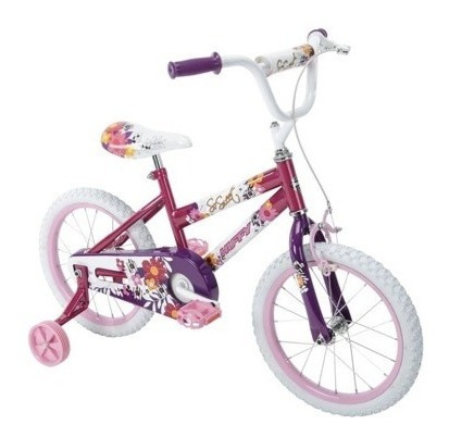 bicicleta infantil aro 16 huffy so sweet rasado/blanco
