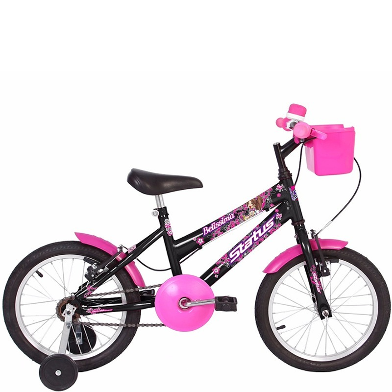 15f1754b1 bicicleta infantil aro 16 status belissima preta. Carregando zoom.