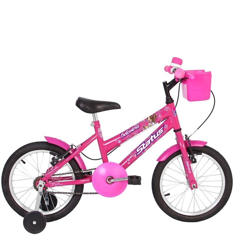 2cef800d8 bicicleta infantil aro 16 status belissima rosa. Carregando zoom.