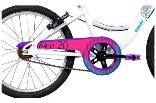 bicicleta infantil aro 20 caloi ceci branco