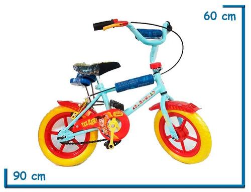 bicicleta infantil cars frozen hulk toy story rodado 12