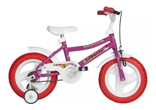 bicicleta infantil cross liberty multicolor r12 + rueditas