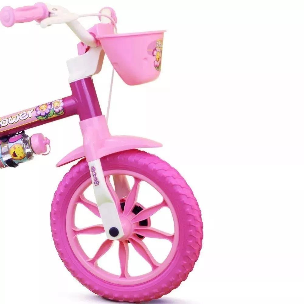 e9f3bf9fc bicicleta infantil feminina aro 12 flower rosa menina nathor. Carregando  zoom.