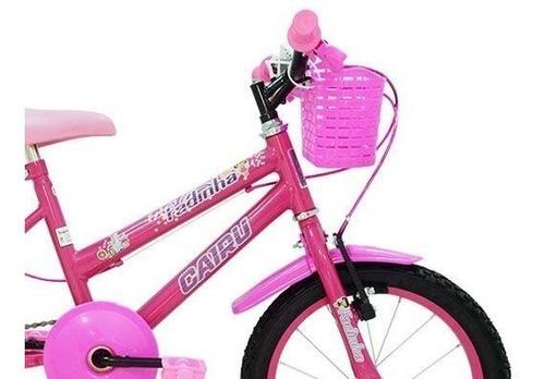 bicicleta infantil feminina aro 16 racer rosa - frete grátis