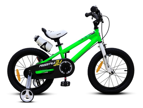 bicicleta infantil freestyle aro 16 royal baby verde