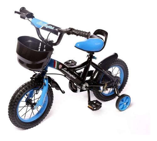 bicicleta infantil lamborghini rodado12 manija acero