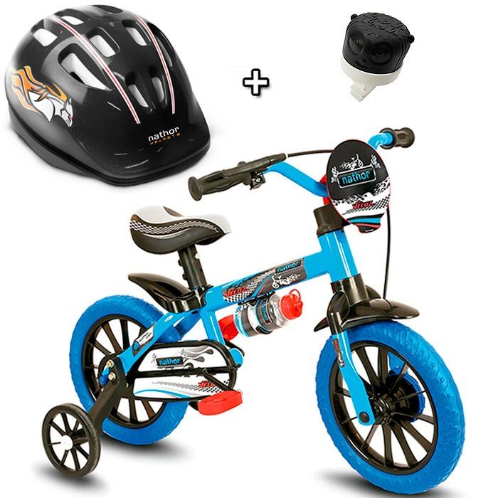 89b664ea1 Bicicleta Infantil Masculina Aro 12 Veloz Capacete - R  999